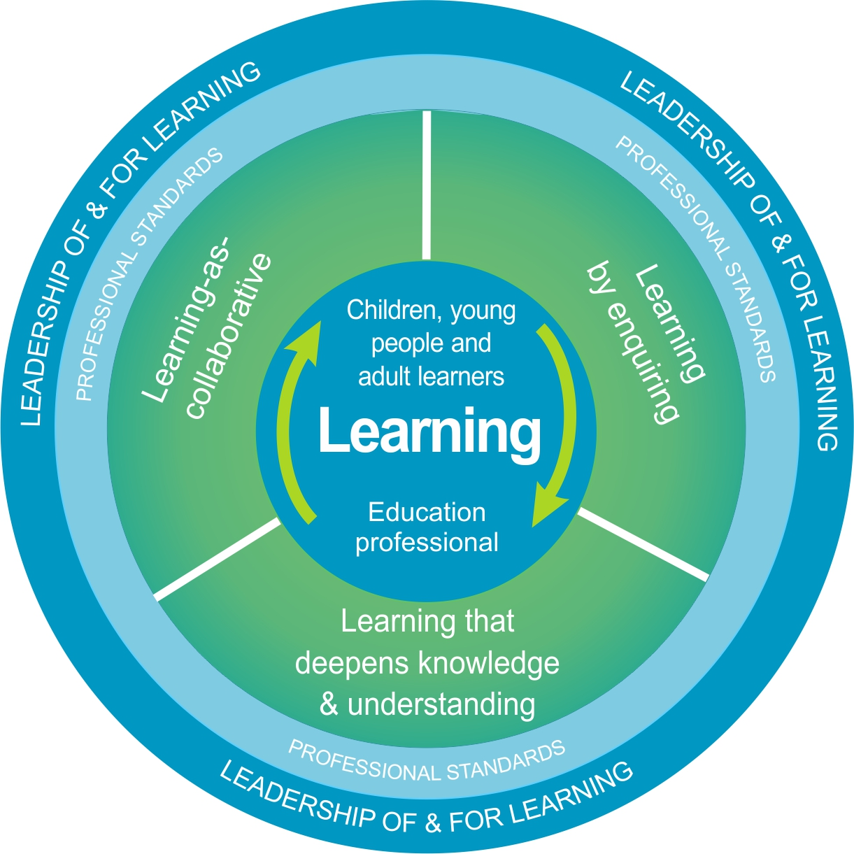 This image is the logo for the  National Model for Professional Learning