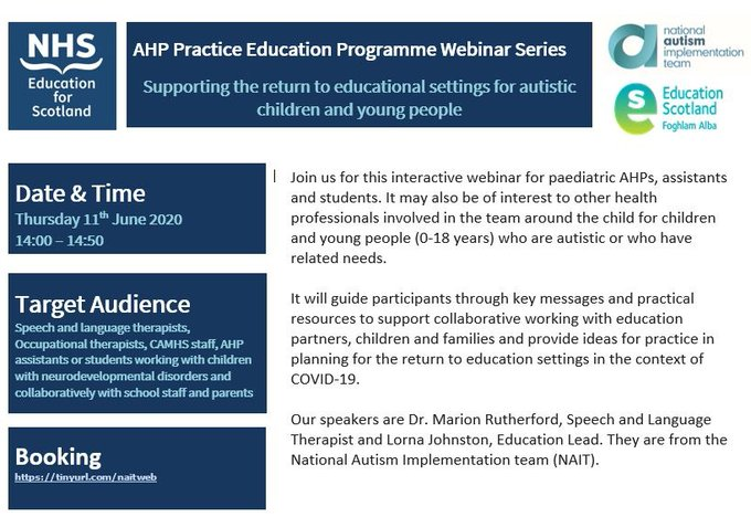 Information on NAIT and NEs webinar